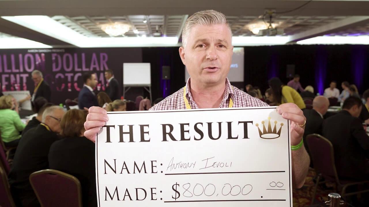 Results: Anthony Ievoli $800.000