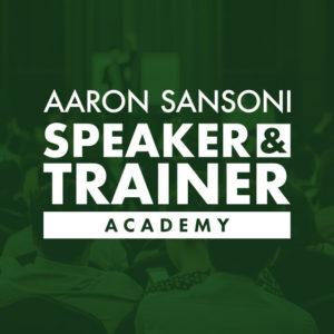 Speaker Training Academy Aaron Sansoni