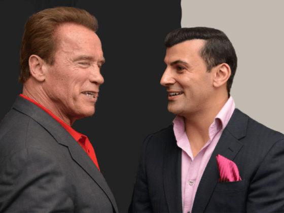 Arnold Schwarzeneger & Aaron Sansoni