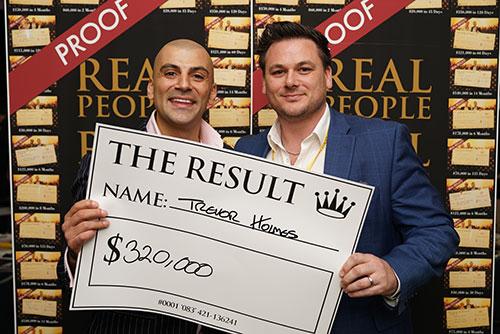 Result: Trevor Holmes $320,000