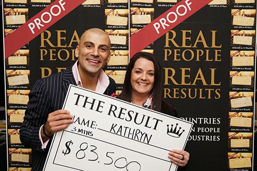 Result: Kathryn $83,500