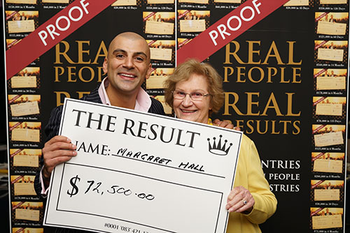 Result: Margaret Hall $12,500