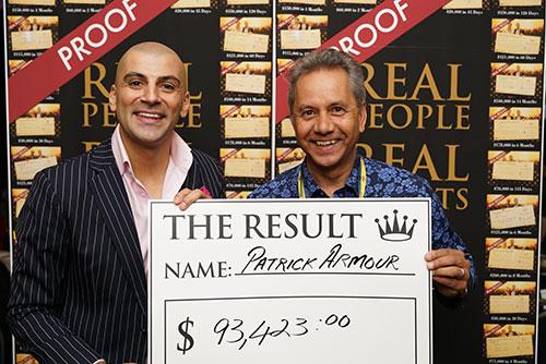 Result: Patrick Armour $93,423