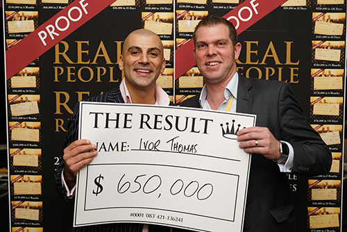 Result: Ivor Thomas $650,000