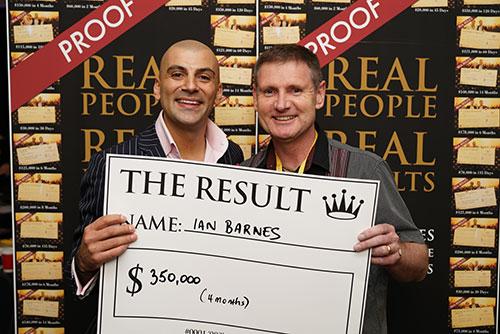 Result: Ian Barnes $350,000