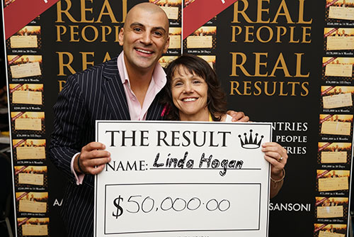 Result: Linda Hogan $50,000