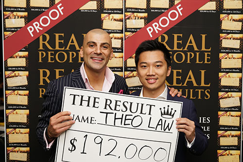 Result: Theo Law $192,000