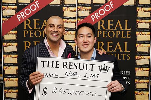 Result: Nur Lim $265,000