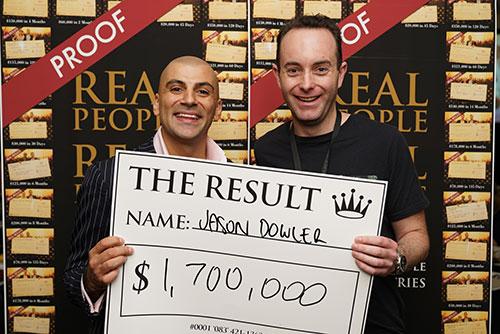 Result: Jason Dowler $1,700,000