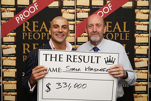 Result: Simon Krasnoff $331,000