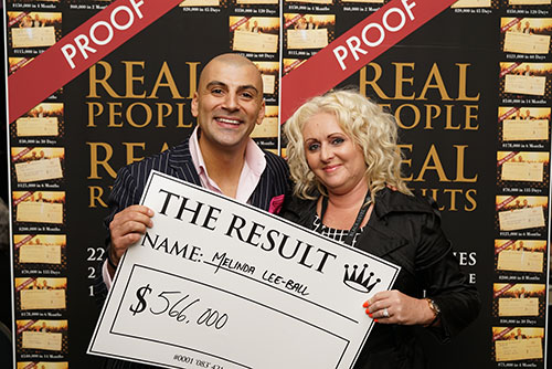 Result: Melinda Lee-Ball $566,000
