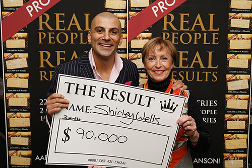 Result: Shirley Wells $90,000