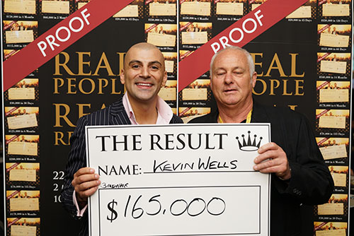 Result: Kevin Wells $165,000