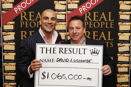 Result: David Luscombe $1,065,000