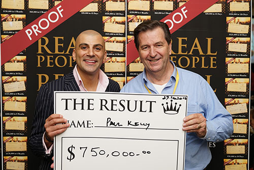 Result: Paul Kelly $750,000
