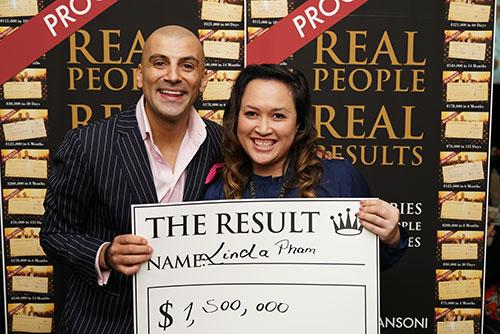 Result: Linda Pham $1,500,000