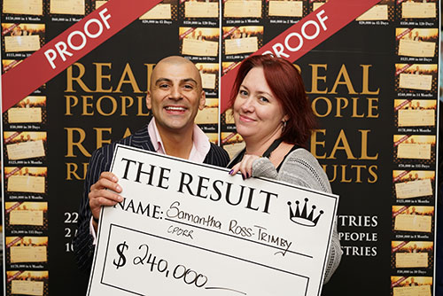 Result: Samantha Ross-Trimby $240,000