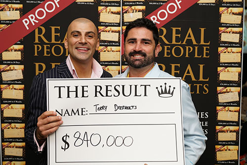 Result: Terry Deefholts $840,000