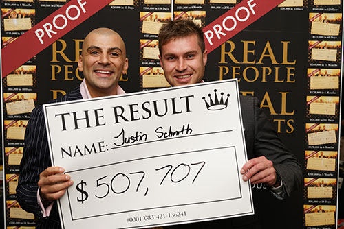 Result: Justin Schmith $507,707