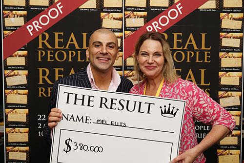 Result: Mel $380,000
