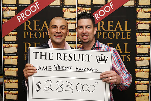 Result: Vincent Marruffo $283,000