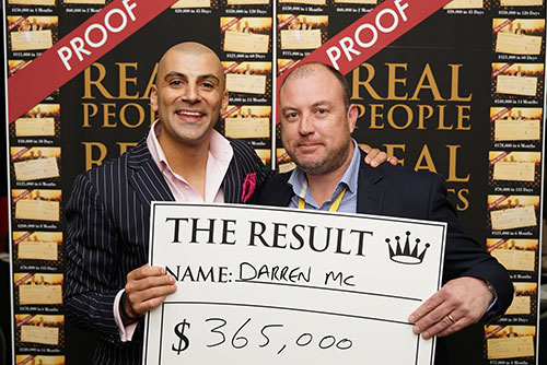 Result: Darren Mc $365,000