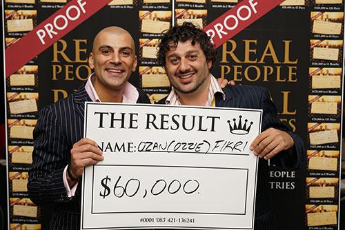 Result: Ozan Fikri $60,000