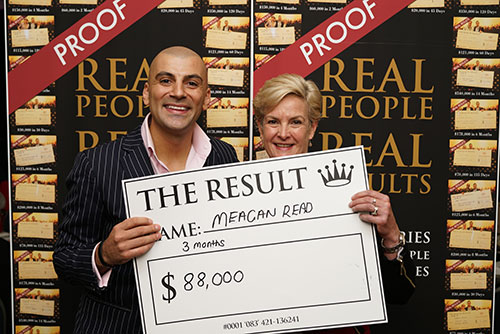 Result: Meagan Read $88,000