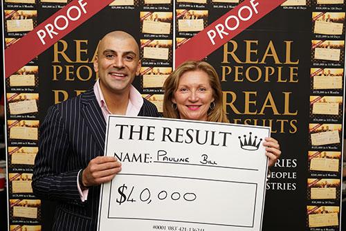 Result: Pauline Bill $40,000