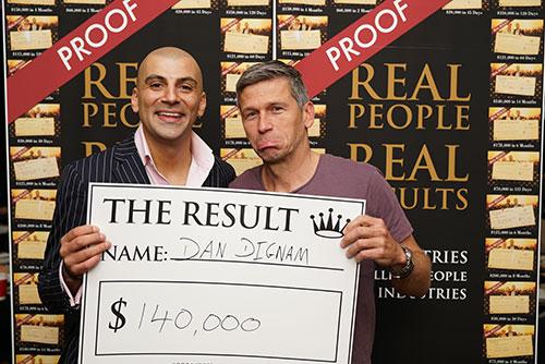 Result: Dan Dignam $140,000