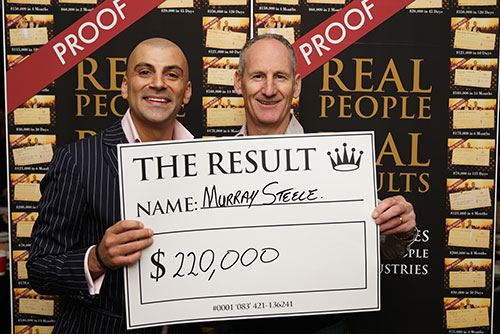 Result: Murray Steele $220,000