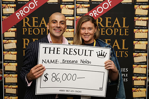 Result: Breeana Nolan $86,000
