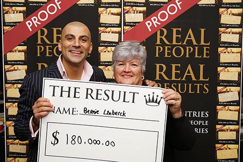 Result: Bernie Linbreck $180,000