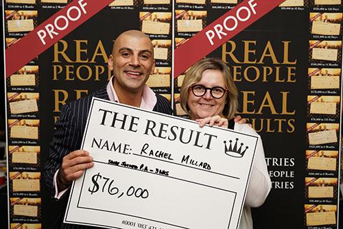 Result: Rachel Millard $76,000