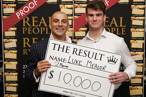 Result: Luke Mealor $10,000
