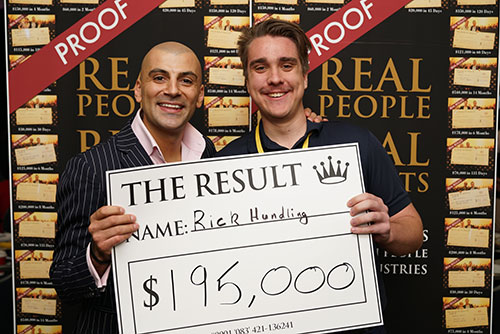 Result: Rick Hunding $195,000