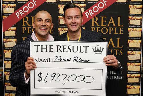Result: Daniel Robinson $1,927,000