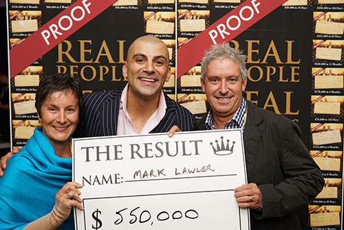 Result: Mark Lawler $550,000