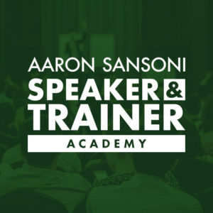 Speaker Training Academy Aaron Sansoni